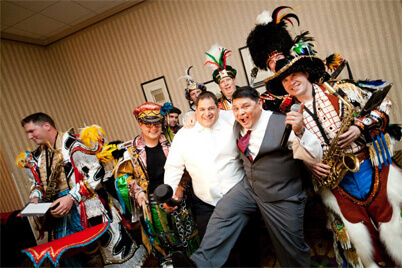 Philadelphia Mummers at a wedding