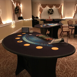 2 casino game tables