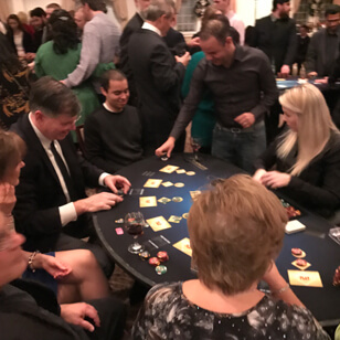 people playing a casino game