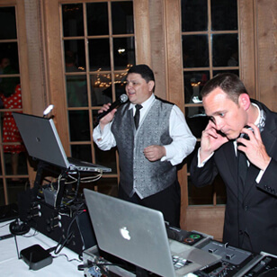 DJ and MC at an event